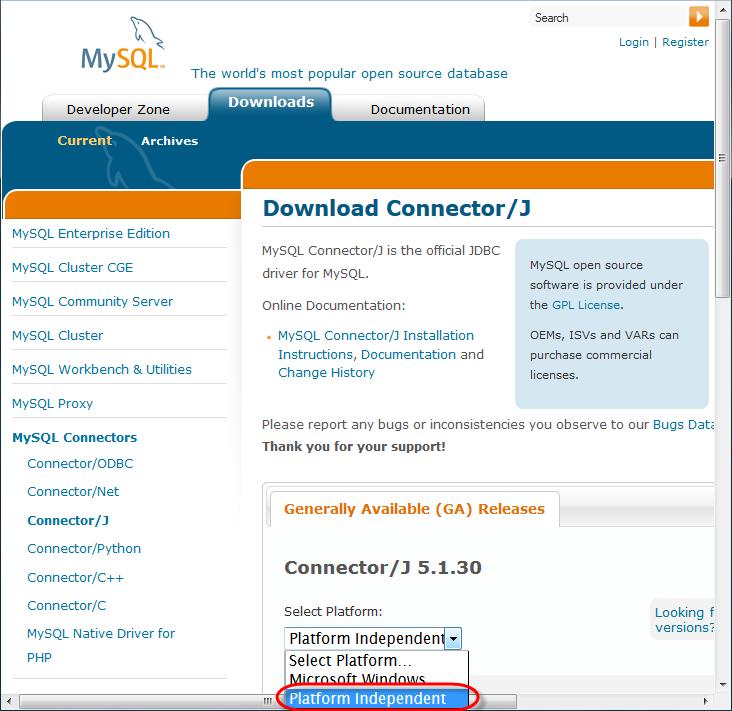 Enabling MySQL support