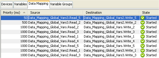 Defining, viewing, and controlling data mappings on