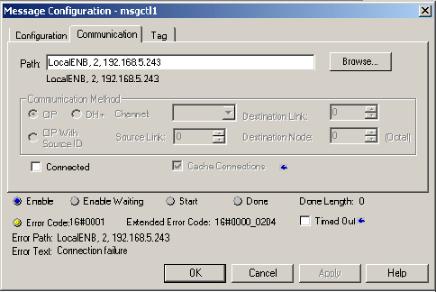 Defining a Rockwell Logix unsolicited message using RSLogix 5000