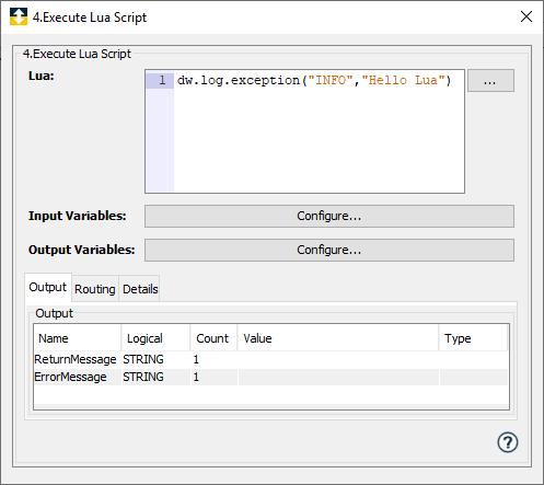 Execute Lua Script